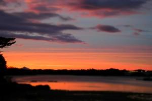 夕陽も格別な藍風亭