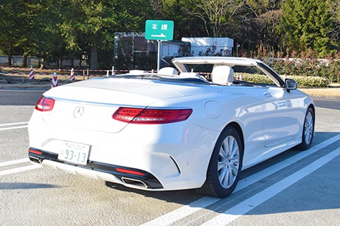 【S 550 Cabriolet】の愛犬旅適正度に中村が迫る!